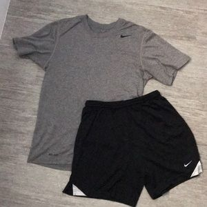 Nike tee and short